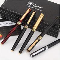 الفاخرة بيكاسو ماركة 902 الأسود الذهبي تصفيح نقش الكلاسيكية نافورة القلم مكتب الأعمال اللوازم عالية الجودة أقلام الحبر مع مربع التعبئة والتغليف