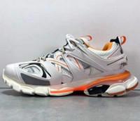 Günstige Top-Track Paris Triple S 3.0 Grau Orange Gelb Casual Schuhe Plattform Turnschuhe Tess S. Gomma Trek Mens Trainer Größe 35-45