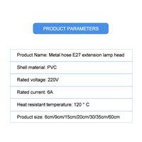 Base E27 a E27 Adattatori lampada 6/9 / 15/20/29/25 / 60 cm Lunghezza estensore flessibile Supporto estensione Adapter Adapter Socket Converter per lampada