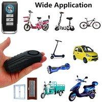 RUIDO 113DB Vibración antirrobo inalámbrica USB RECARGABLE DE MOTORIA BICICLETA Alarma de bloqueo de control remoto Seguridad de la bicicleta Última Y1203