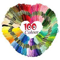 Пряжа Qifu Швейные Инструменты Случайный Цветовая Вышивка DIY Шелковая линия Филиала Нитки Подобные DMC Нить Фласс Скить