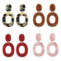 Women Geometry Acrylic Earrings Jewelry Lady Multicolor Retro Fashion Alloy Earring Personality Exaggeration New Pattern 2 4sff J2