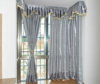 Rideau rideaux de rideaux pour la chambre à coucher Salon Traitement du salon inclus Gris Silver Grey Tissu Moderne Blackout Fenêtre insonorisée Cortinales