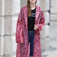 Engrosamiento eva impresión encaje impermeable mujeres niñas transparente lluvia capa impermeable ponchos mujer plástico plástico chaqueta trinchera 201201