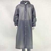 Sleeves와 방수 판초와 EVA 휴대용 여행 비옷 성인 비 일회용 비옷 환경 친화적 인 투명