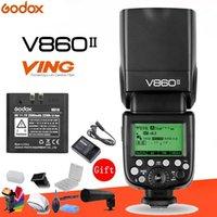 GODOX VING V860II V860II-C 2.4G GN60 E-TTL HSS 1 / 8000S Cámara de batería de iones de Li-Ion Speedlite Flash para DSLR + Kit de regalo1