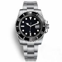 Casual relógio negro 116610 homens safira automática cerâmica sólida sólida bezel orologio da uomo mens relógio de pulso montre homme presente