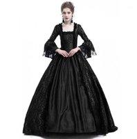 Jiezuofang 18 세기 중세 고딕 드레스 르네상스 레이스 드레스 무도회 의상 Vestido Gotico1