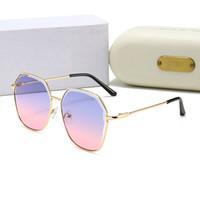 2021 Modedesigner Sonnenbrille Marke Brille Outdoor Shades Bambusform PC Frame Classic Lady Luxus Sonnenbrille Für Frauen mit Kasten