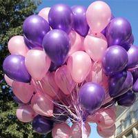 Vendita calda 100 pz 10 pollici 1.8G Compleanno / fornitura di nozze Agganciale in lattice Palloncini colorati Party Latex Air Baloon / Ballon Bambini Giocattolo gonfiabile
