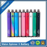 Vision Spinner 2 II Batterie 1650mAh Ego c Twist Torsage Valtion variable VV 3.3-4.8V Batterie de cigarette électronique pour les atomiseurs de fil d'ego
