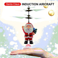 Flying Inductive Mini RC Drone Christmas Santa Claus Induction Aircraft RC Elicottero per bambini Regali di Natale