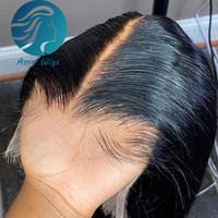 Pre Plucked Blached 매듭 13x6 HD 투명 레이스 정면 아기 머리카락으로 스트레이트 브라질 레미 빗물에 피부 레이스 폐쇄