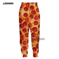 Liasoso 3D Print Frauen Männer Pizza Lebensmittel Wurst Sweatpants Lässig Jogging Jogger Hip Hop Hosen Jugendhose Streetwear Lustig X2710 C1120