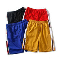 남성 여름 반바지 바지 패션 4 색 인쇄 졸라 매는 끈 GC 반바지 편안 옴므 스포츠 스웨트 팬츠 pEIOA