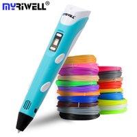 Myriwell 3d القلم الصمام الشاشة diy 3d الطباعة القلم 100 متر abs خيوط الإبداعية لعبة هدية للأطفال تصميم الرسم Y200428