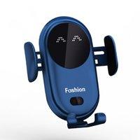 Smart Infrarot Sensor Auto drahtloser Ladegerät Auto Halter Mobiltelefon Wireless Ladegerät Farbe Blau