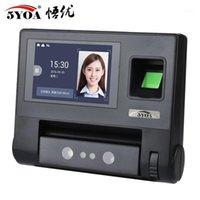 Máquina de atendimento de dispositivo biométrico de reconhecimento facial de controle de impressão digital