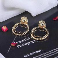 Mode Retro Ohrringe Ohrstecker Retro Letters Designer Ohrringe Frauen Marke Ohrringe Studs Geschenk für Party Jubiläum