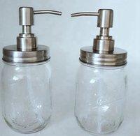 480ml Mason Jar Jar Distributeur de savon en verre transparent avec distributeur de savon anti-rouille pompe en acier inoxydable Distributeur de savon liquide KKA8291