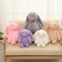 ABD hisse senedi paskalya tavşanı 12 inç 30 cm peluş dolu oyuncak yaratıcı bebek yumuşak uzun kulak tavşan hayvan çocuklar bebek sevgililer günü doğum günü hediyesi