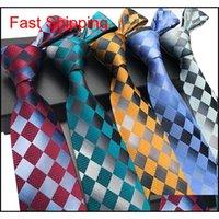 295 Stilleri 8 CM Erkekler Ipek Bağları Moda Erkek Boyun Bağları El Yapımı Düğün Kravat Iş Bağları İngiltere Paisley Kravat Çizgili P Qylifc HOMES2007