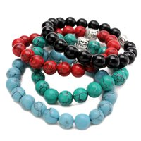 Prix usine Bouddha Mode 10mm Hommes Tiger Eye Beads Breads Bracelets Prière Chakra Turquante Méditation Turquoise Natuarl Stone
