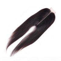 ماليزي الشعر البشري 2x6 إغلاق الدانتيل مستقيم الشعر إغلاق مع شعر الطفل 6x2 إغلاق الدانتيل اللون الطبيعي أعلى إغلاق