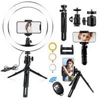 10-Zoll-Ring-Licht Kurzes Stativ 26cm Tischlampe Beleuchtung mit Selfie-Stick für Telefon YouTube Vlog Webcam Live-Streaming