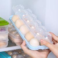 Yumurta Kutusu Buzdolabı Taze Tutma Kutuları Yumurta Saklama Kutusu Yumurta Tepsi Mutfak Depolama Aracı Plastik Kutu Gıda Depolama XD24452