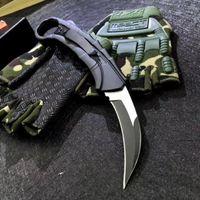Karambit Oto Taktik Pençe Bıçak 440C Tel Çizim Blade Zn-Al Alaşım Kolu Naylon Kılıf Ile Açık EDC Aracı
