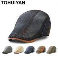 Шляпы Sboy Tohuiyan мужчины женщины старинные хлопчатобумажные лоскутные шапки утка козырек случайные кабриолет берут шапки бренд стремянка плоские плющные шапки1