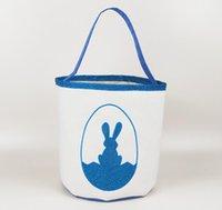 Canasta de Pascua Canasta Impreso Lindo Cubos de Pascua Niños Lucky Huevos Cestas de Huevos Niño Bolsas de caramelo Días de fiesta Moda para niños Bolsos de almacenamiento de juguetes Yys4606