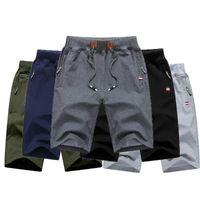 TJWLKJ Pantalones cortos para hombre Verano Mens Playa Pantalones cortos de algodón Casual Color Sólido Hombre Homme Brand Ropa