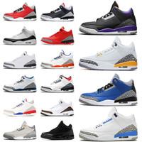 Nike air jordan retro 3 jordans 3s  2021 Jumpman  Mens Womens Basketball Sapatos  Gray III Varsity Royal UNC Fogo Vermelho Cimento Branco Cimento Mulheres Sneakers Tamanho 36-47