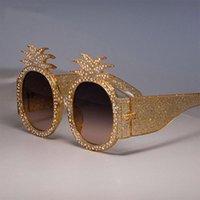Солнцезащитные очки Vescion Anapple Рама Блестящие Цветные Стразы Для Женщин Бренд Очки Дизайнер Мода Женские оттенки