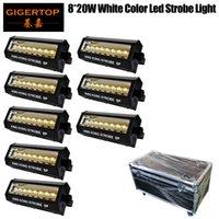 8in1 Flightcase Packstufe Dmx Stroboskoplicht weiße Farbe Kingkong Modell Mini 8x20w weißen LED-Blitzlicht dmx Ton Selbstbetrieb