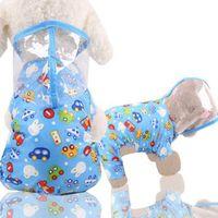 Pet Hundewelpen transparent Regenbekleidung Regenmantel Haustier mit wasserdichtem Hund transparent Jacke Kleidung Poncho 200 stücke 84 o2