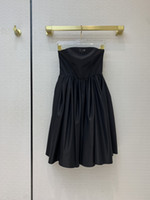 Vestidos de pista de milão 2021 primavera verão strapless painéis de mesa de desenhista de mulheres marcas mesmas vestido de estilo 1211-6