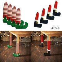 Рождественские украшения 4 Шт. Стул Настольная ножка ноги носки предотвращают соскоб подарок1