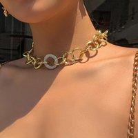 Girocolli Phyanic round ciclo collana femmina strass collare collane collegamento catena choker gioielli regali collier femme all'ingrosso