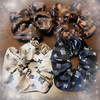 Mix 4 estilo de estilo de estilo de luxo moda anéis de cabelo de luxo logo letras impressas bandas de borracha grande anel de intestino grande corda de cabeça de corda mulheres cocar