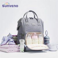 Sunveno Водонепроницаемый подгузник Bagpack рюкзак стеганая большая мама материнства сумка для ухода по материнству путешествия рюкзак коляска детская сумка подгузник лежит на детей 200922