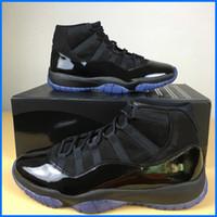 Mais novos 11 Prom Night Blackout Basquetebol Homens baratos Triple Black Patent Patent Couro Sapatos de esportes com caixa