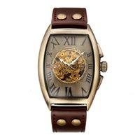Смотреть механический ремень Мужская Шэньхуа заклепка 9268 Пряжка мужская бронзовая часы