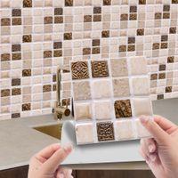 10шт 3D самоклеящаяся мозаикальная наклейка для плитки для ванной комнаты наклейки стены декора