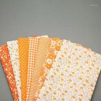 1 pz / lotto 50x50cm tessuto in cotone arancione tessuto trapuntato tessuti per cucito patchwork cucito fai da te bambole fatte a mano decorazione domestica materiale LX7371