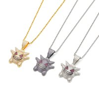 Necklace Elf Geng Gui Cartoon Micro Inlaid with Purple Zirco...