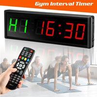 """Contatori Intervallo Timer Timer Down / Up Clock 1,5 """"6 cifre LED Gym cronometro con remoto per allenamenti per la casa per la casa"""