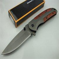 Browning DA43 Pieghevole Pieghevole 3Cr13 Blade Blade Maniglia in palissandro Titanium Tattico Coltello tascabile Camping Caccia Caccia Coltello Pieghevole DA167 DA166 DA138